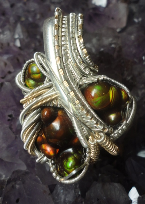 Arizona Fire Agate Pendant